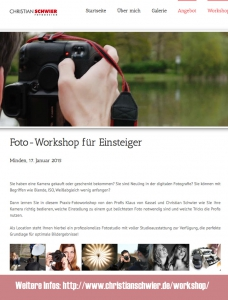 Flyer Foto-Workshop